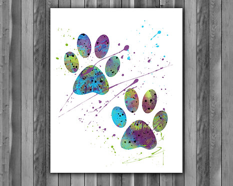 Paws Art Prints, Paws Animals print, Paws poster, Paws painting, Animals printables, Paws instant download