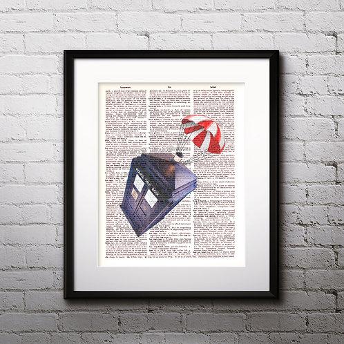 Traidis Doctor Who art Dictionary Art Art Prints Digital Poster Home Decor mixed media art print