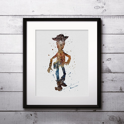 Woody Toy Story Nursery Disney Print Printable Watercolor Art poster home decor
