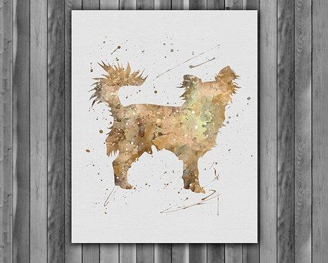 Dog Chihuahua watercolor, Dog Chihuahua Art Print, Dog Chihuahua art, Dog Print, Dog wall art, Dog poster Printable, Dog art