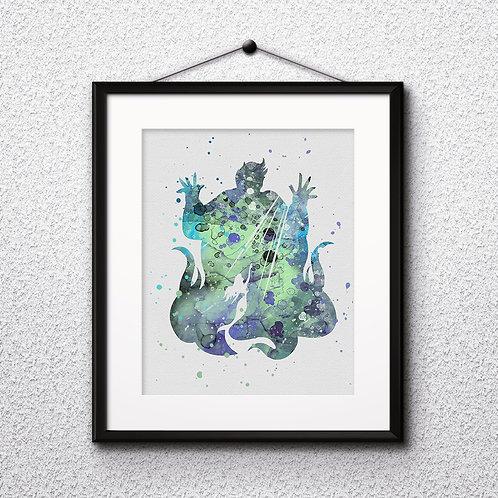 The Little Mermaid Disney Nursery Art prints, disney print, disney painting, disney art, Printable art, Disney Home Decor