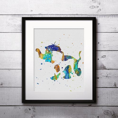 The Jungle Book Disney art prints, disney print, disney painting, disney art, Printable art, Disney Home Decor, Nursery Art