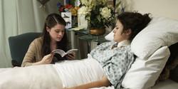 Mary reading to Star still shot