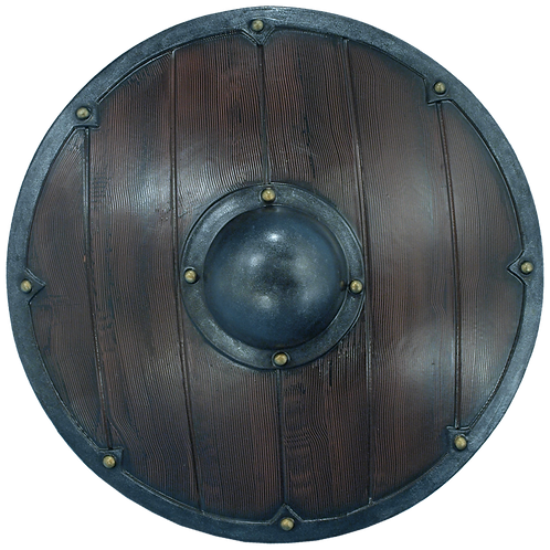 Large Domed Round Punch-Grip Shield