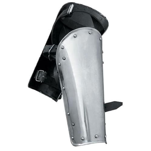 Polished Steel Warrior Greaves