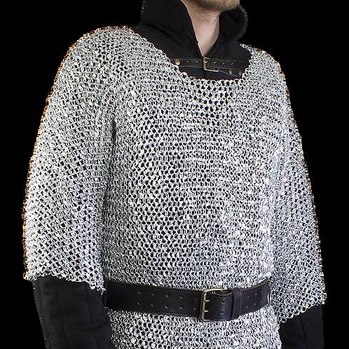 Riveted Aluminum Chainmail Hauberk - Short Sleeve