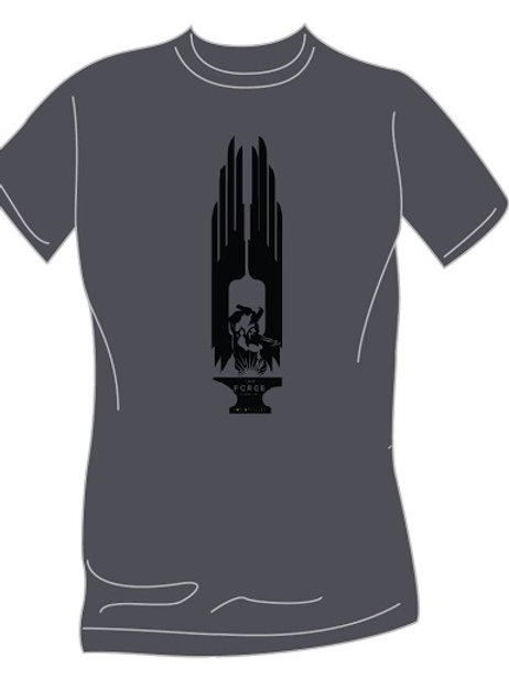 Smoke Grey T-Shirt Vertical Logo