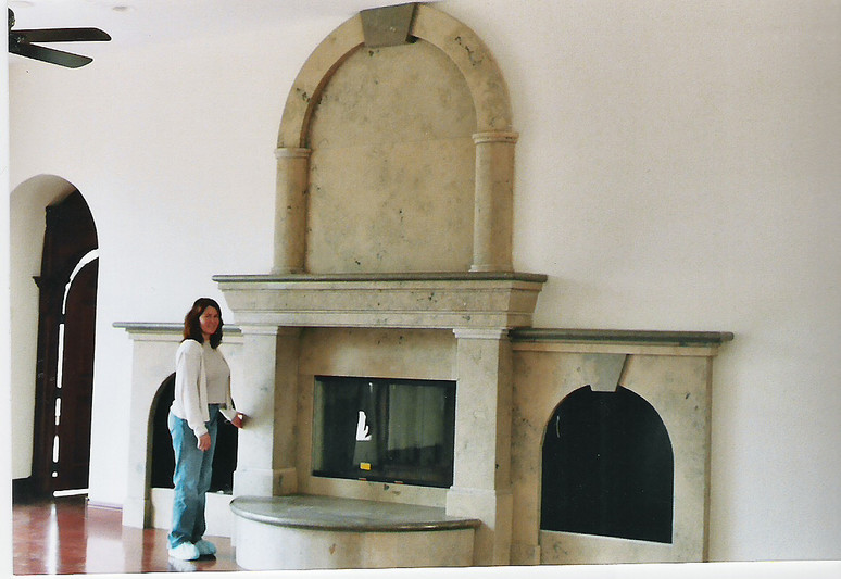 Jura Beige Custom Fireplace