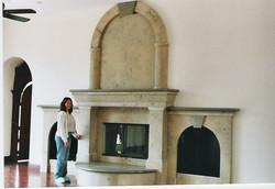 Jura Beige Custom Fireplace
