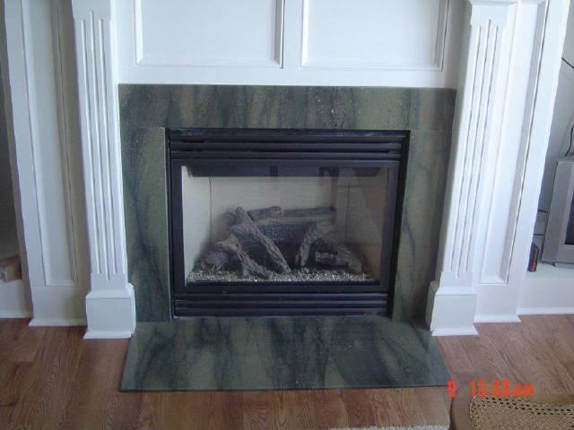 Waterfall Green Fireplace Surround