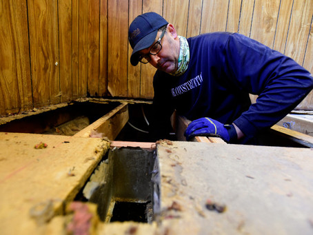 NoCo HBA Partners with Habitat for Humanity  Volunteers to Repair Major Damage to Family Home