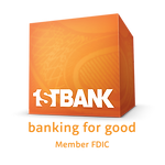 NCM Gold Sponsor - First Bank orange tag