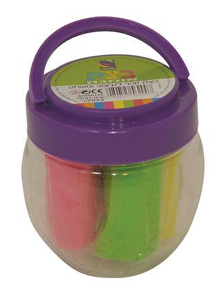 בצק בדלי 4*70 גרם צבעים זוהרים