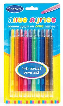עפרונות שעווה עבים עם מנגנון מסתובב 10