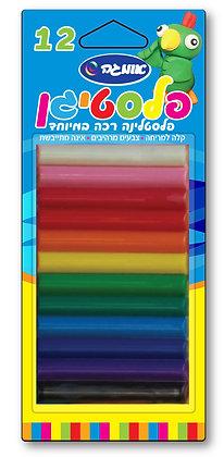 פלסטיגן 12 צבעים בבליסטר