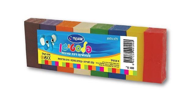 פלסטיגן 8 צבעים 400 גרם