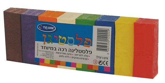 פלסטיגן 8 צבעים 200 גרם