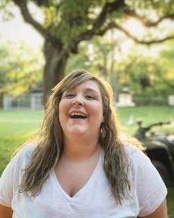 Felisha A. Bull, laughing, outside