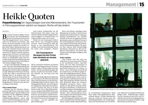 Handelszeitung, 2012
