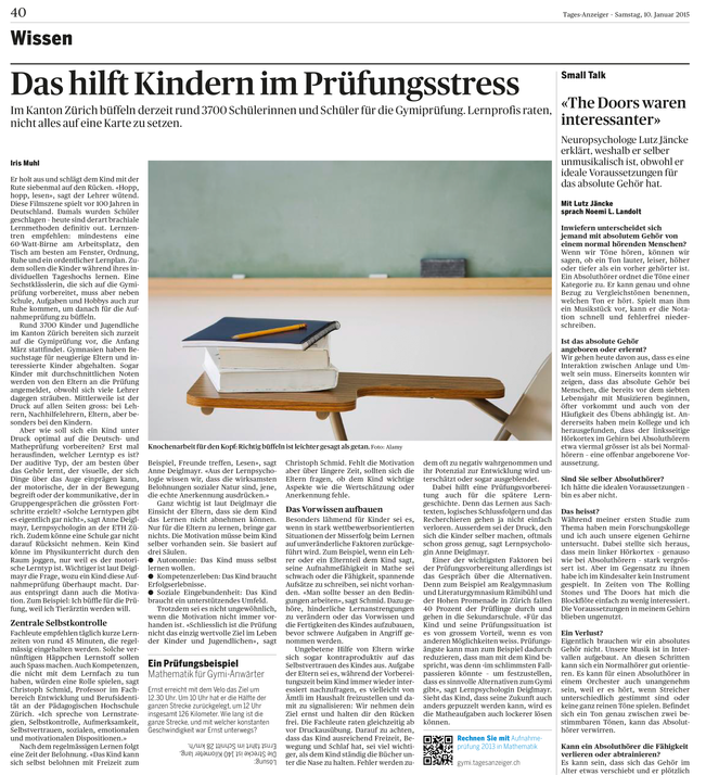 Tages-Anzeiger, 2015