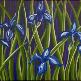 Serene Japanese Irisses