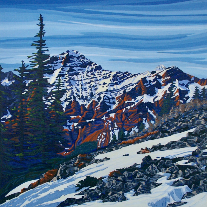 Mount Kidd - A Kananaskis Beauty 24x24