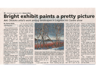 """Lots of Publicity for the """"Vistas, Visions & Viewpoints"""" Show at the Leighton Centre"""