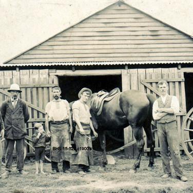 Wilkinson & Armstrong old Blacksmith shop c1900