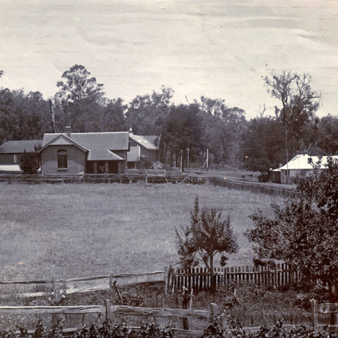 Distant look at the First Court House in Bridgetown 1893
