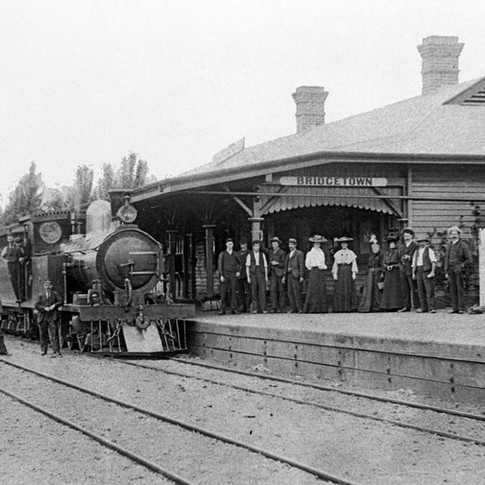 Bridgetown Train Station c1900's