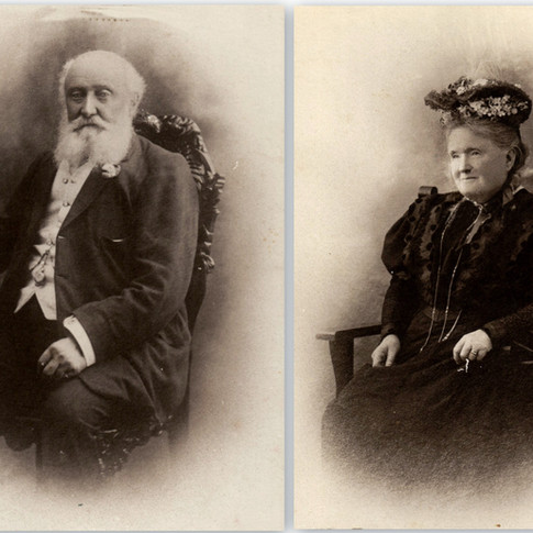 Mr John & Mrs Kate Allnutt c1880