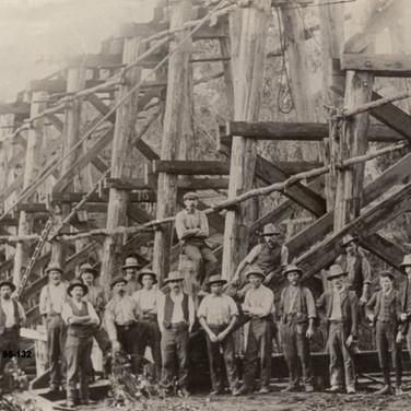 Construction of the Rail Bridge c1900