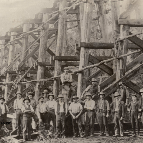 Construction of the Rail Bridge c1900