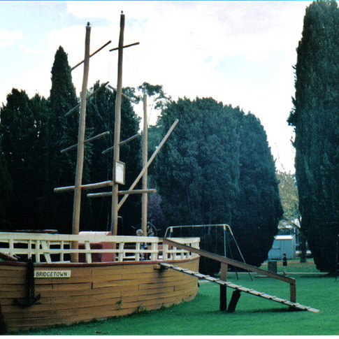 The barque Bridgetown in Memorial Park –dismantled in 2008