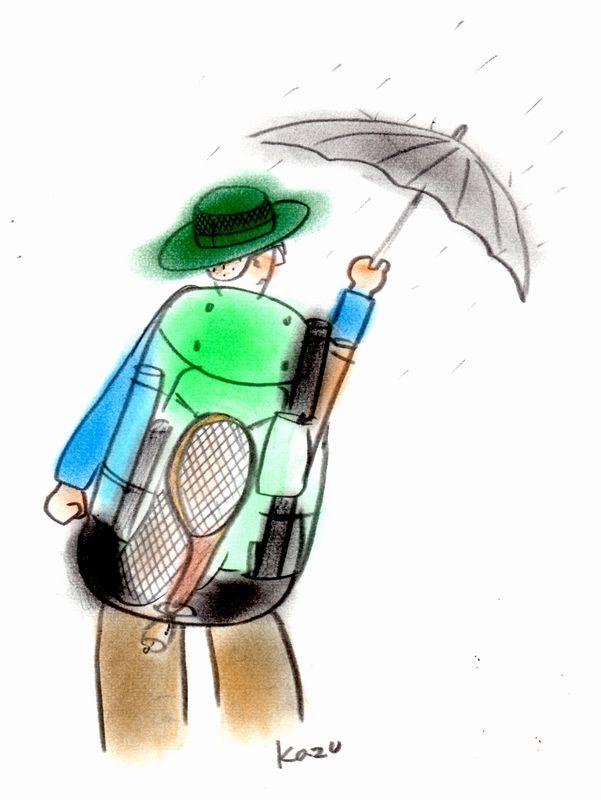 「雨にもマケズ・・。」  パステル画B5