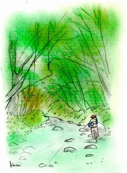 「至福の時・・。」  パステル画 A4