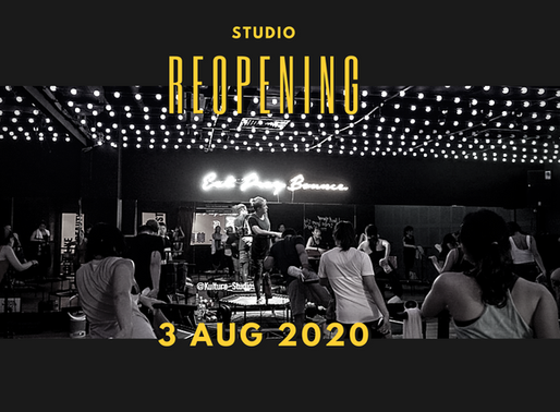 Studio Re-opening on 3rd Aug!