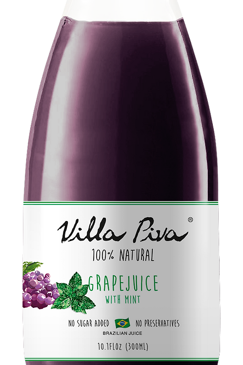 100% Natural Grape with mint Juice (10.1 FLoz each)
