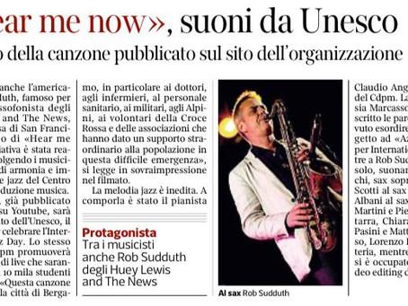 Corriere della Sera Bergamo parla di Hear Me Now