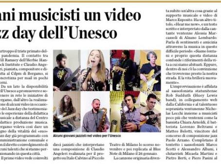 L'Eco di Bergamo parla di Hear Me Now