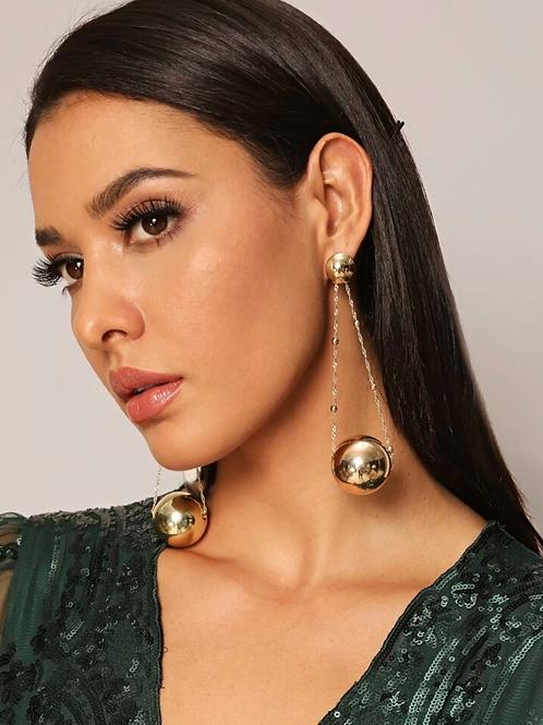 """ Let the Ball Drop "" earrings"