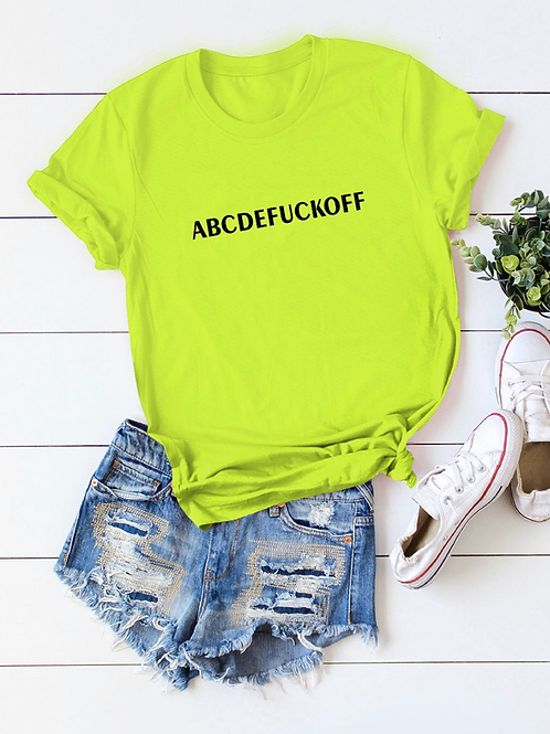 """ ABC "" T-shirt"