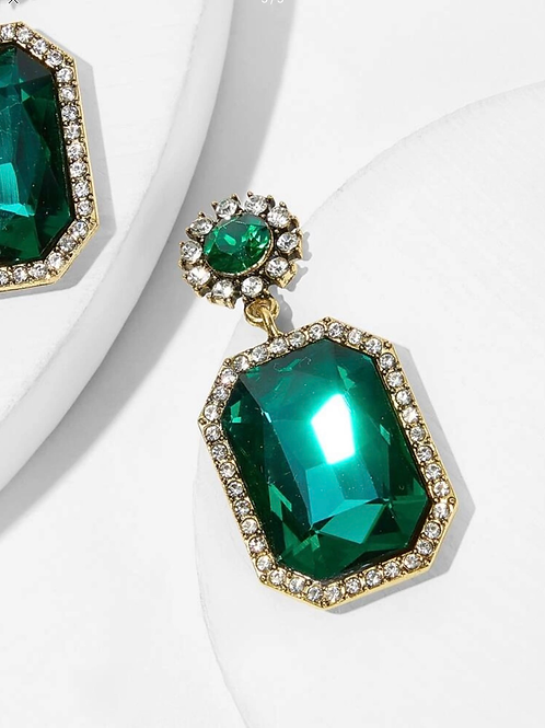 """ Emerald Dee "" earrings"