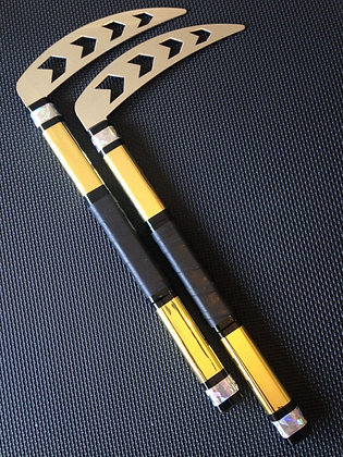 12 Inch Gold & Cracked Ice Kamas - Arrows Head