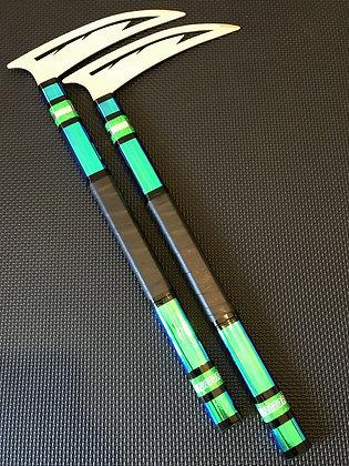 14 Inch Green GKC Illuminator Kamas - Predator Head Blade