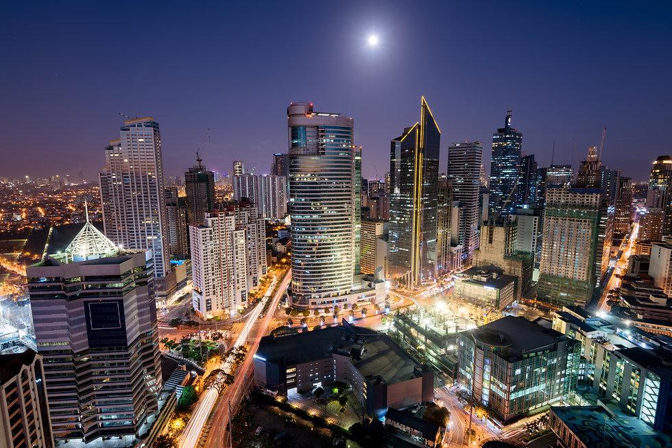 Makati Skyline at night. Makati is a cit