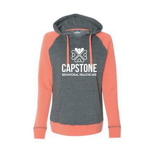 *C* MV Sport Women's Raglan Hooded Sweatshirt