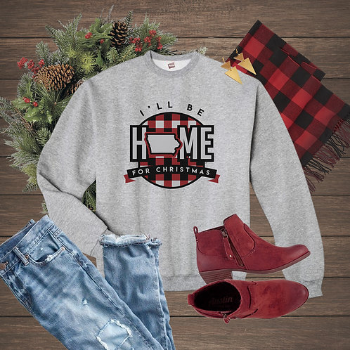 Home for Christmas in Iowa - Crewneck Sweatshirt