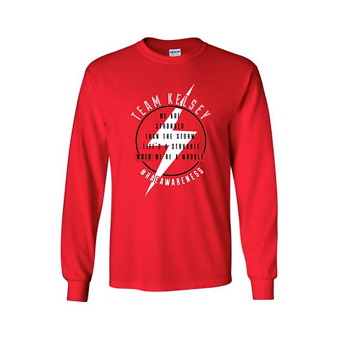 Team Kelsey - Long Sleeve T - Red