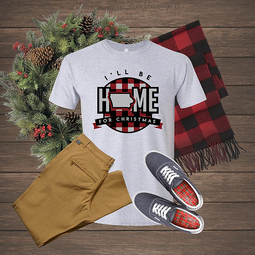 Home for Christmas in Iowa - T-SHIRT
